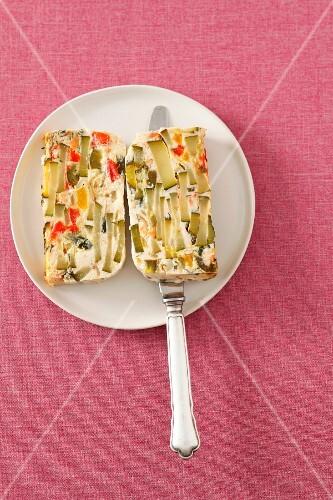 Vegetable terrine with cream cheese