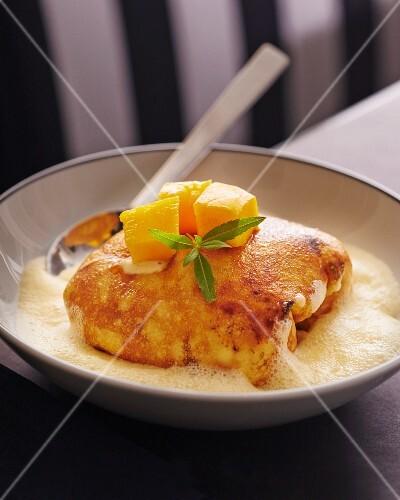 Pancake with mango