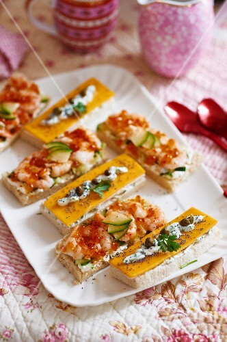 Assorted sandwiches for tea