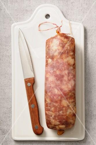 Saucisson à cuire (raw sausage, France)