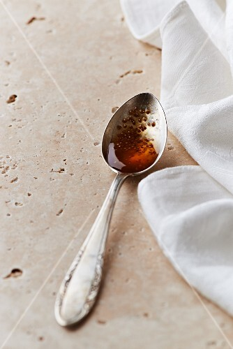 A spoon of fig jam