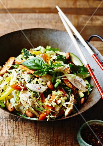 Thai chicken stir-fry with basil