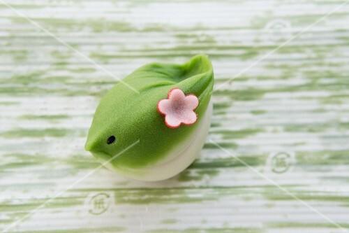 Wagashi nightingale (New Year), a Japanese sweet