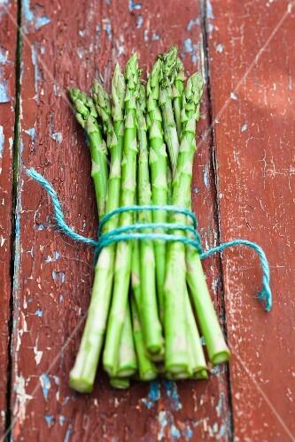 Tips of Bundled Asparagus