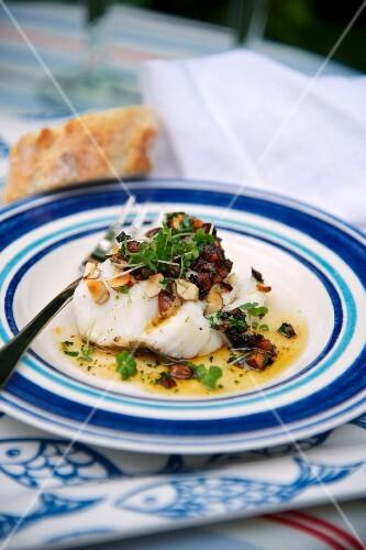 Cod with hazelnuts