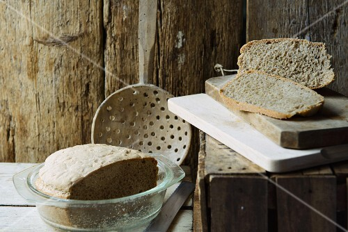 Rustic buckwheat bread