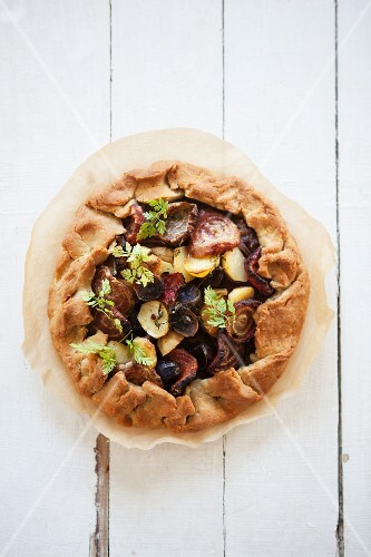 Galette with root vegetables