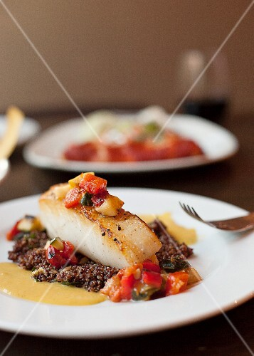 Fish on Quinoa and Vegetable