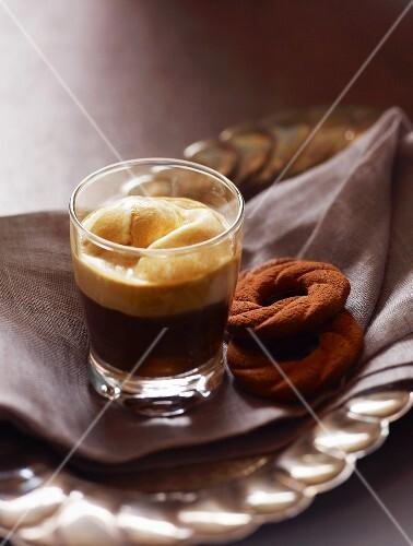 Affogato al caffè - Italien Espresso with Ice Cream