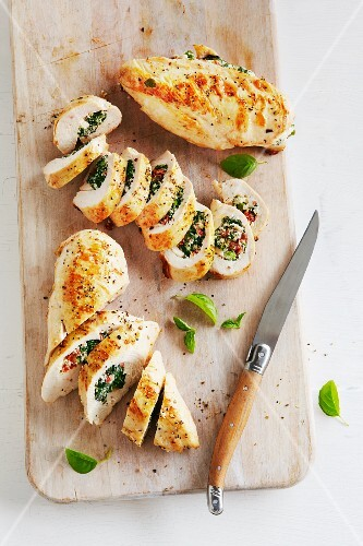 Chicken Breast with Basil Stuffing