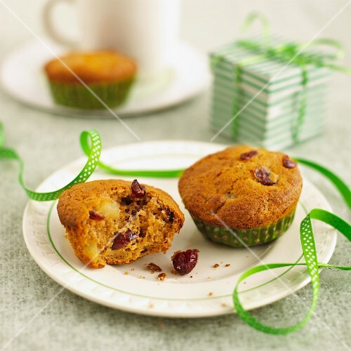 Cranberry muffins for gifting at Christmas