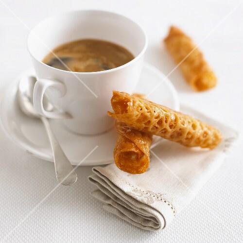 Brandy Snaps for a coffee break
