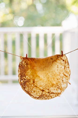 A Crepe Hanging on a line