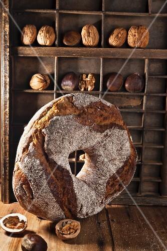 Rustic chestnut bread