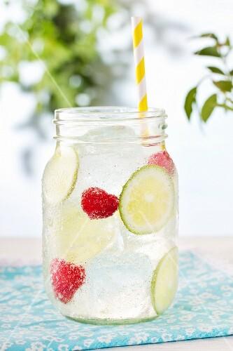 Lime raspberry lemonade