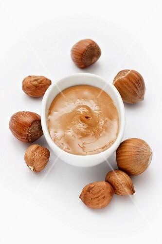 Hazelnut paste and hazelnuts