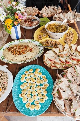 An abundant party buffet
