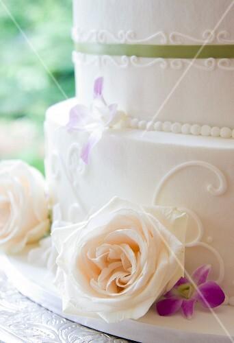 Detail of a Wedding Cake