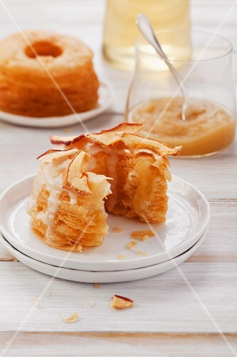 Doughnuts with apple pur