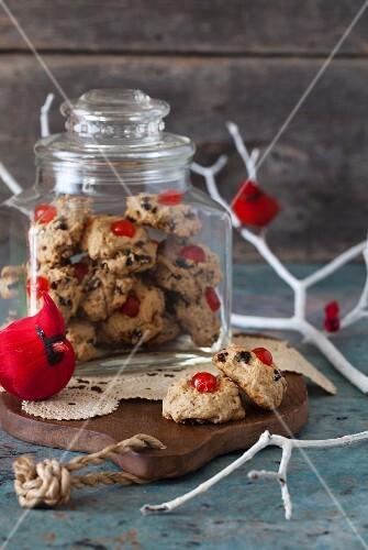 Spiced Brown-Sugar Fruit Drops in glass jar