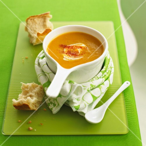 Creamy squash soup made with butternut squash