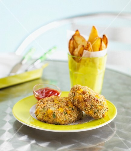 Salmon fishcakes with sweetcorn
