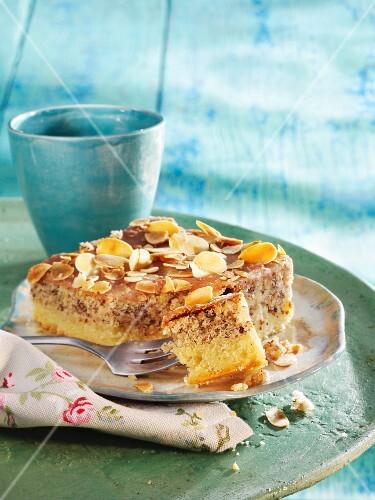 A piece of almond cake
