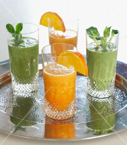 Exotic and green smoothies