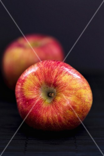 Two Braeburn apples