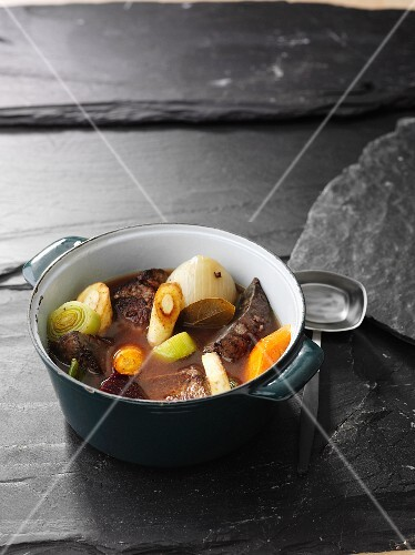 Pot au Feu with beef and vegetables