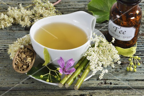 Medicinal tea for fighting colds and flu