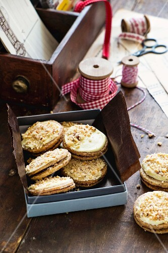 Ischler Taler (Austrian layered shortbreads) in a gift box