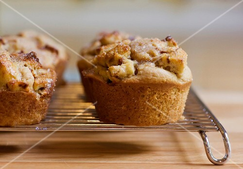 French toast muffins on a wire rack