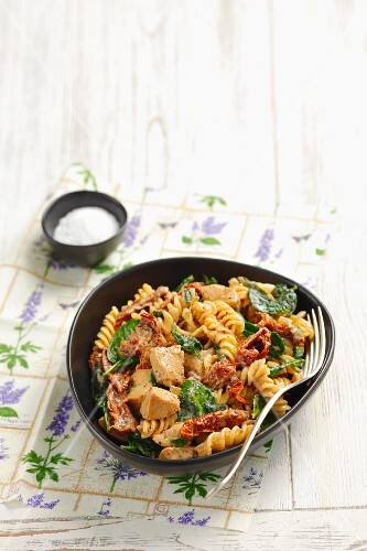 Fusilli with chicken, sundried tomatoes and a cream sauce