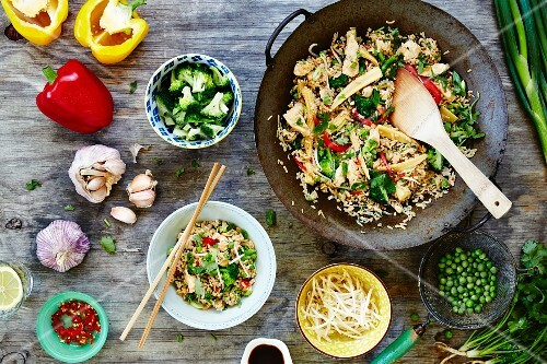 Fried rice with vegetables (China)