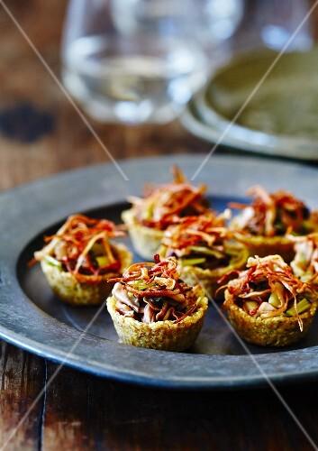 Quinoa tartlets with mushrooms