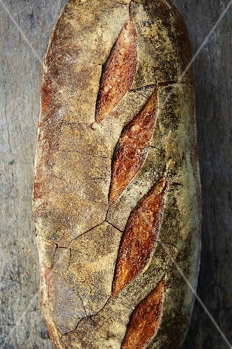 Sourdough bread from above