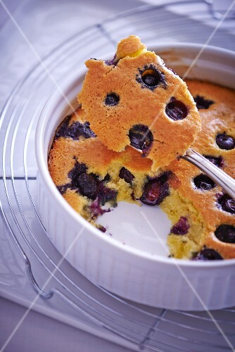 Clafoutis with blueberries