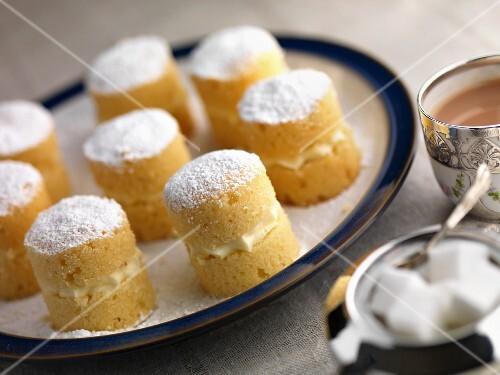 Gluten-free mini sponge sandwiches