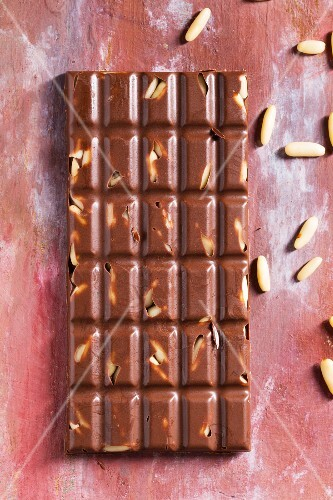 Chocolate with pine nuts
