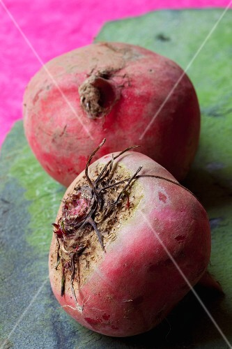 Two beetroots