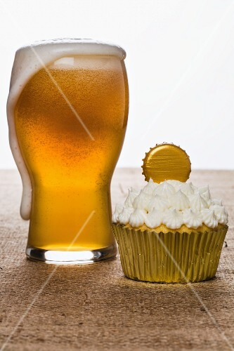 A wheat beer cupcake
