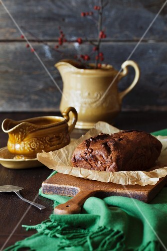 Rustic chocolate banana bread (Country style)