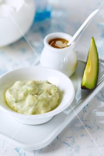 A homemade avocado facemask for dry skin