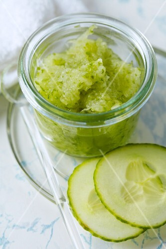 A homemade cucumber facemask for blemished skin