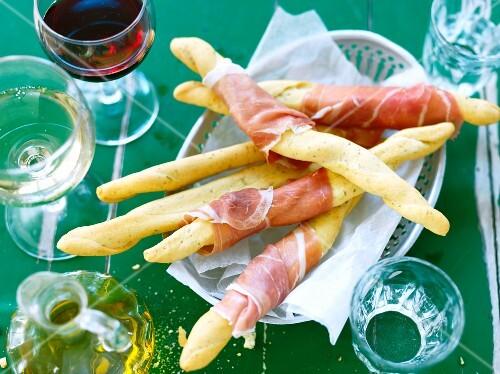 Grissini with Parma ham