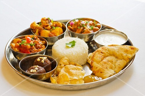 Thali (A selection of dishes, India)
