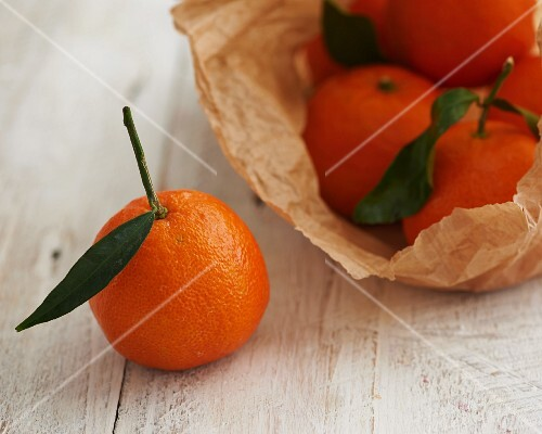Clementines in a paper bag