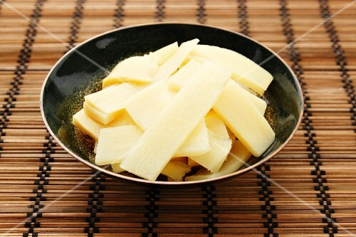 A bowl of bamboo shoots