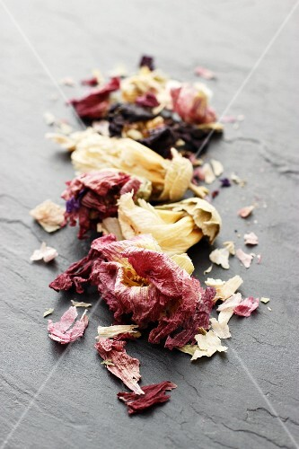 Dried okra flowers (close-up)